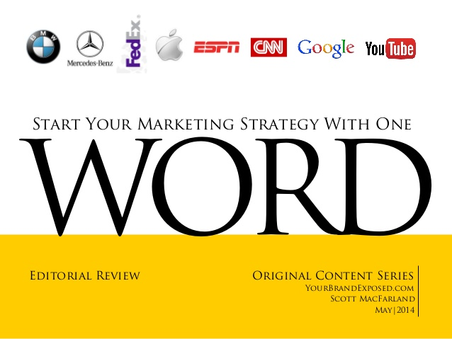 Start Your Marketing Strategy With One Word
