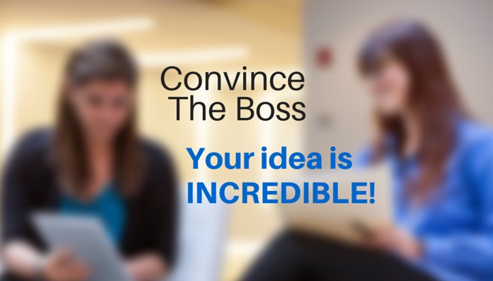 CONVINCE THE BOSS YOUR IDEA IS